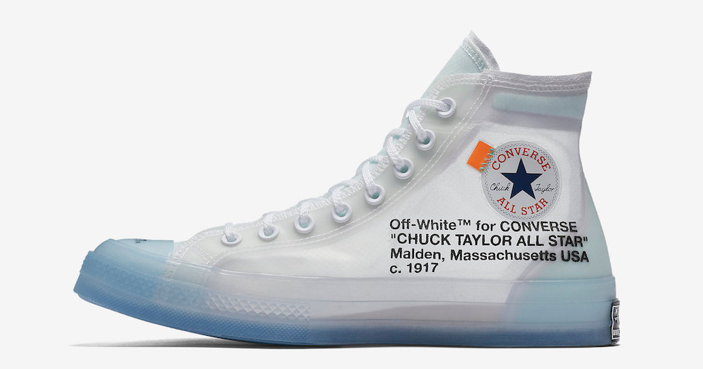 The Off White x Converse Chuck 70 is expected to drop this