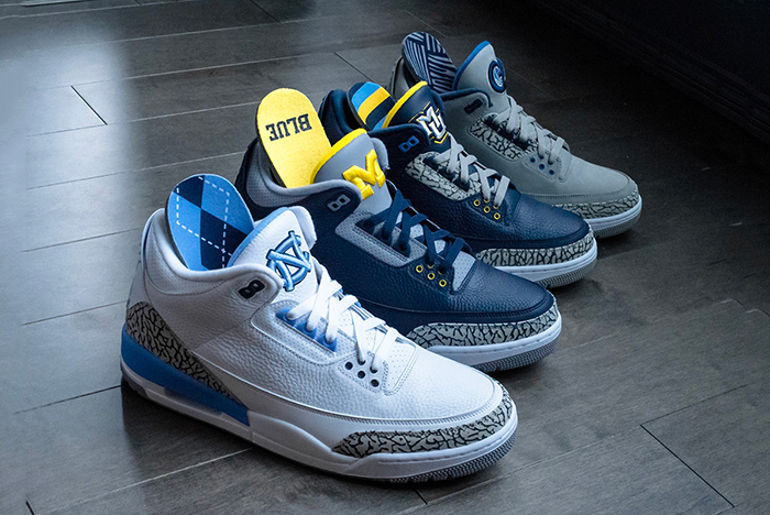 Detailed look // Air Jordan 3 College PEs