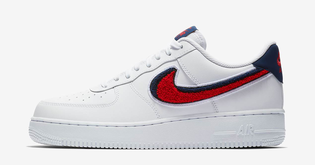 9fc4a806 Available now // Nike Air Force 1 Low with Chenille Swooshes - HOUSE ...