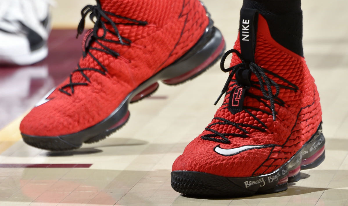 "#HardwoodHeat // LeBron 15 ""Red Griffey"""
