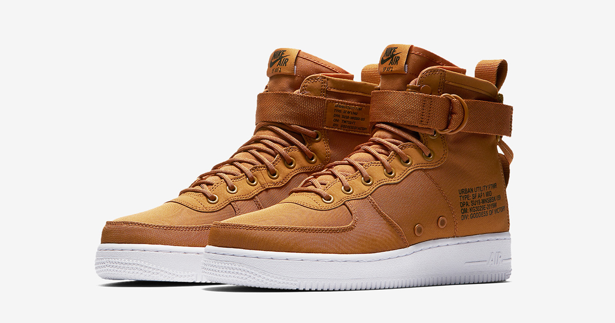 """Available now // Nike SF-Af1 Mid """"Desert Ochre"""""""