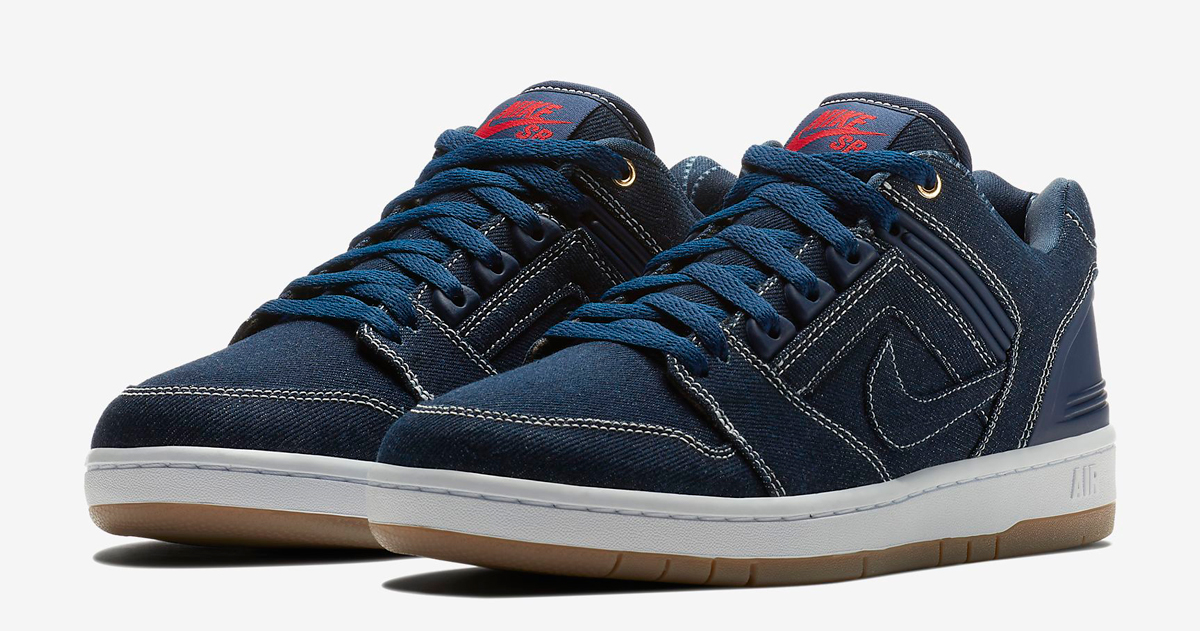 "Available now // Nike SB Air Force II Low ""Denim"""