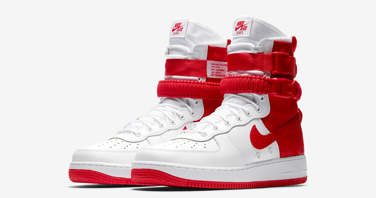 "Available now // Nike SF-AF1 High ""University Red"""