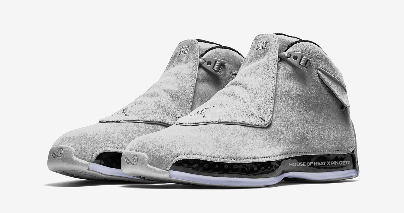 Cool Grey finds its way to the Jordan 18