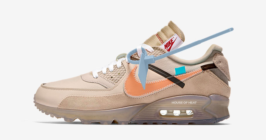 "This year's Off-White Air Max 90 comes in ""Desert Ore"""
