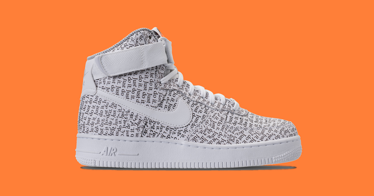 """The Air Force 1 High joins the """"Just Do It"""" collection"""