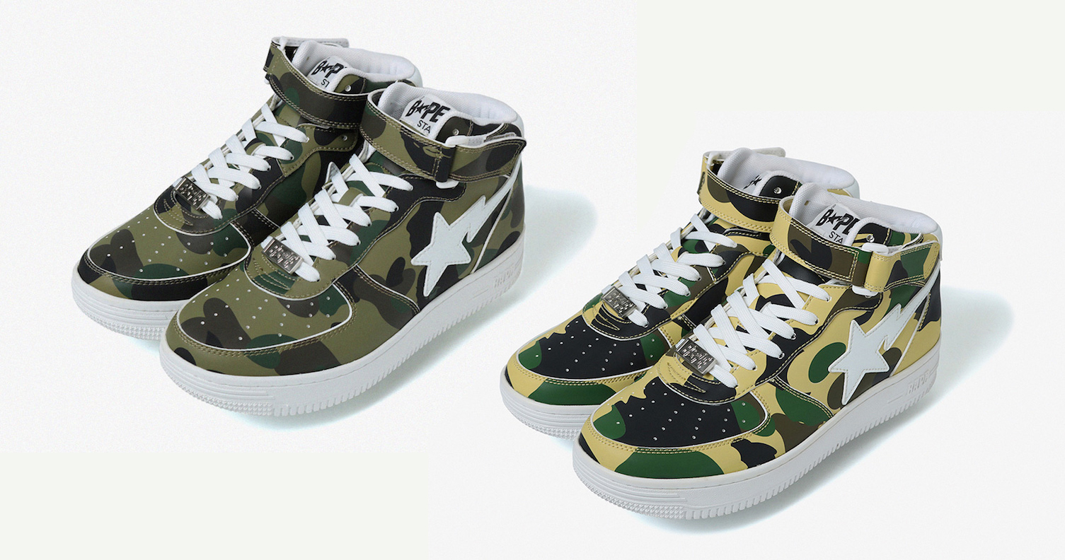 "The Bapesta is back in ""First Camo"""