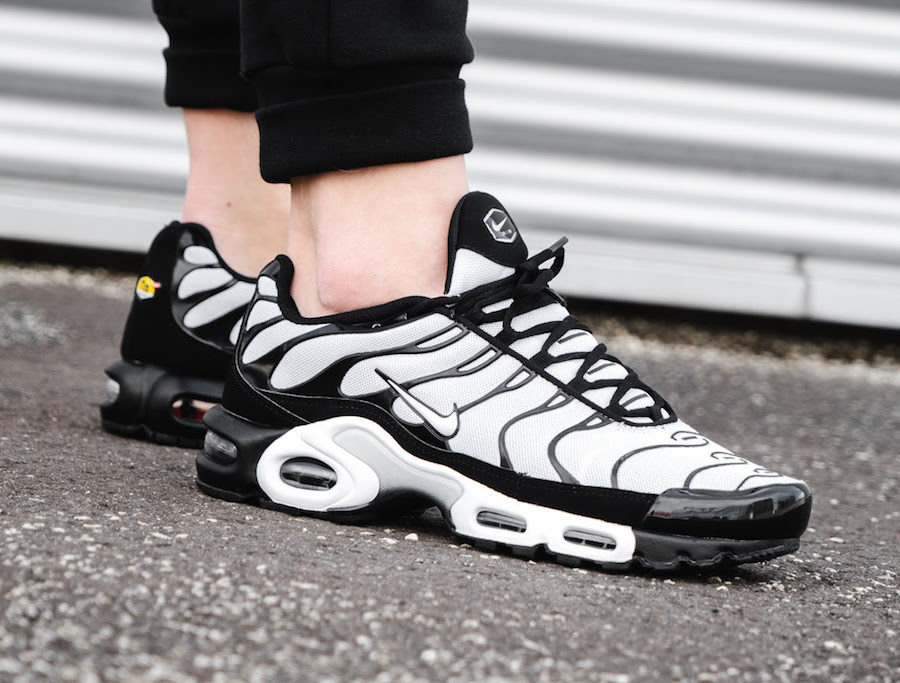 The classic Oreo colorway hit the Air Max Plus