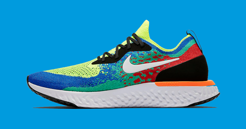 """Official images // Nike Epic REACT Flyknit Trainer """"Belgium"""""""