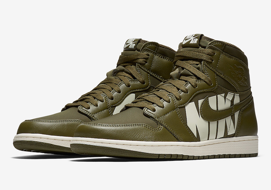 "Official Looks // Air Jordan 1 ""Olive Canvas"""