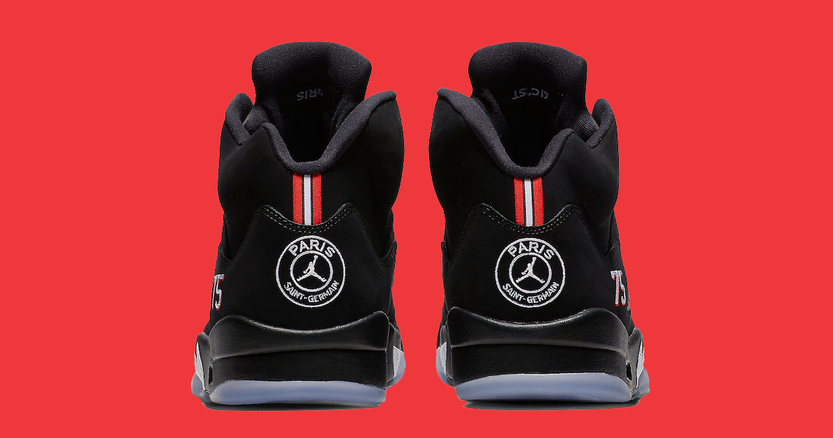 The Paris Saint-Germain Jordan 5 is limited to only 40,000 pairs