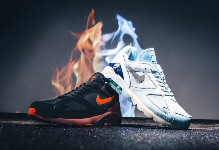 """Available now // Nike's """"Fire and Ice' Air Max 180 Pack"""