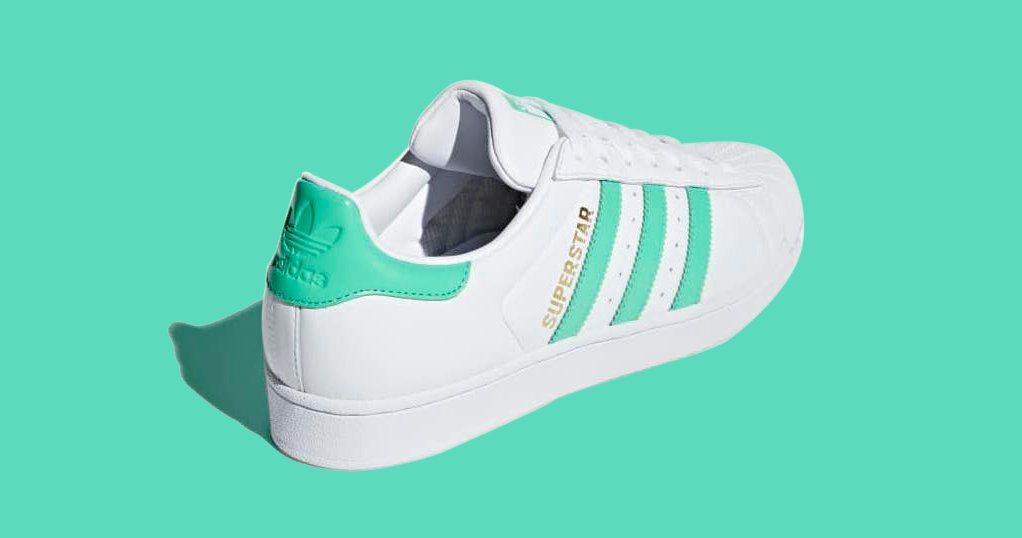 Available Now // adidas Superstar in Hi-Res Green