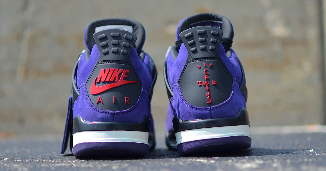 "Detailed Look // Travis Scott x Air Jordan 4 ""Purple Suede"""
