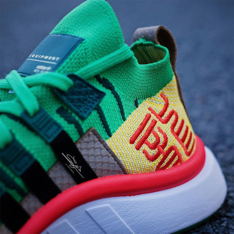 "Detailed Look // Dragonball Z x adidas EQT Support Mid ""Shenron"""