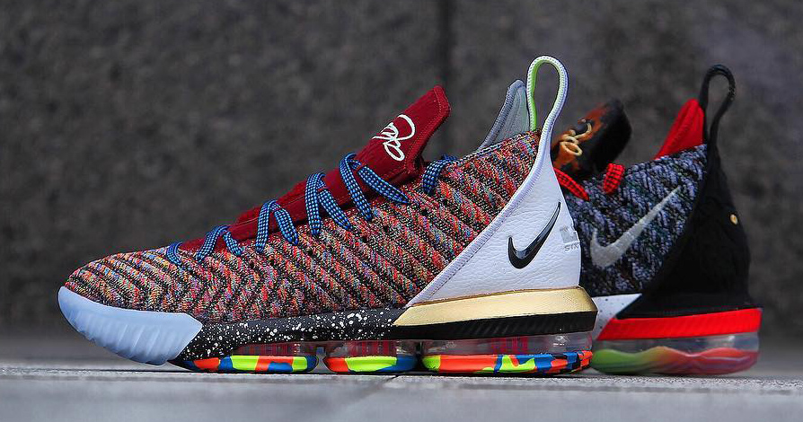 "best service 38d95 7cb51 Detailed look    Nike LeBron 16 ""What The """