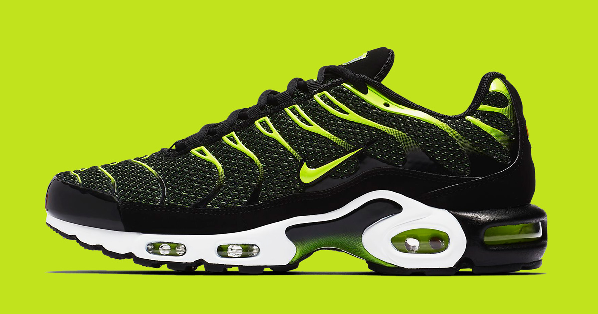 """Available Now // Nike Air Max Plus """"Black/Volt"""""""