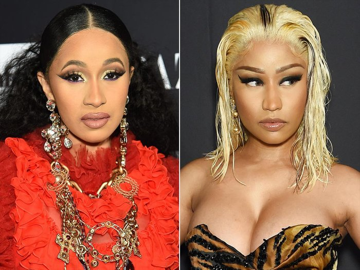 Cardi B and Nikki Minaj Punch On at NYFW