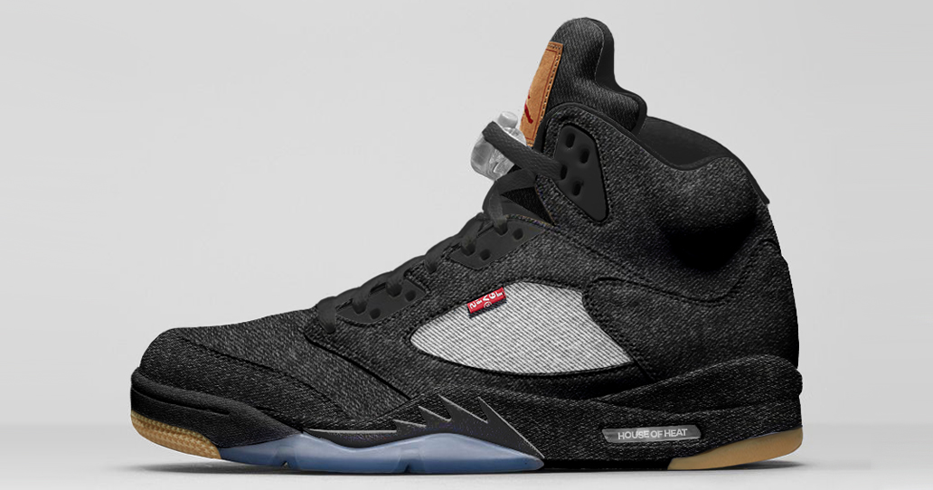 "Concept Lab // Levi's x Air Jordan 5 ""Black Denim"""