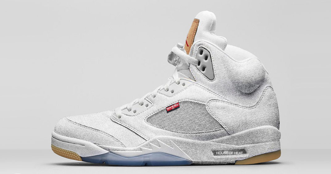"Concept Lab // Levi's x Air Jordan 5 ""White Denim"""