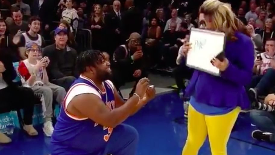 VIDEO // Halftime Marriage Proposal at MSG Was All Kinds of Awkward