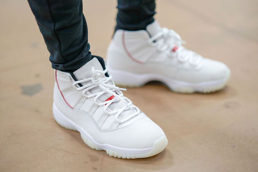 "best sneakers 60a3d 9fce5 How the Air Jordan 11 ""Platinum Tint"" Looks ..."