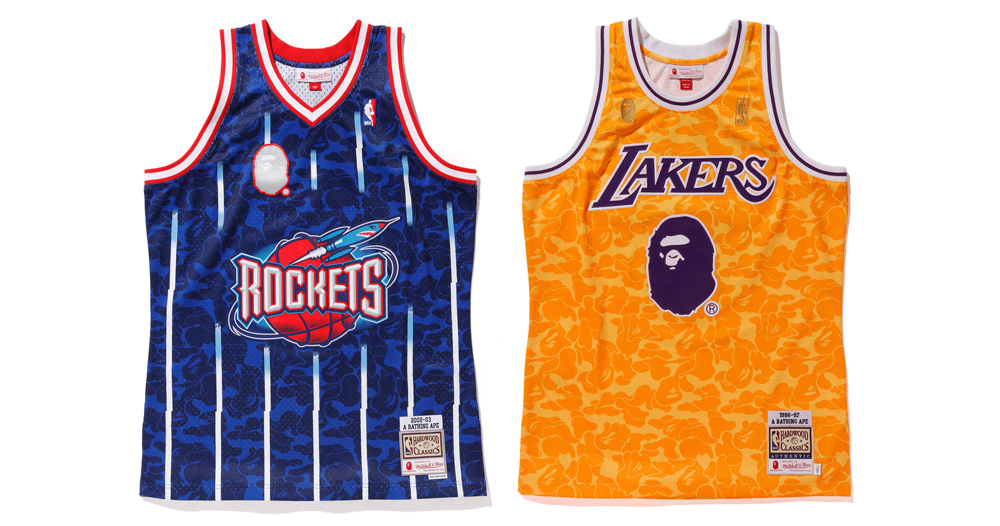A Detailed Look at the Bape x NBA Jersey Collaboration