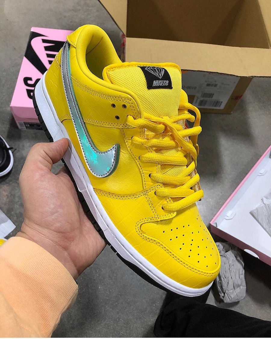 big sale 9988a 272fc A Yellow Diamond Supply Co. x Nike SB Dunk Low Surfaces