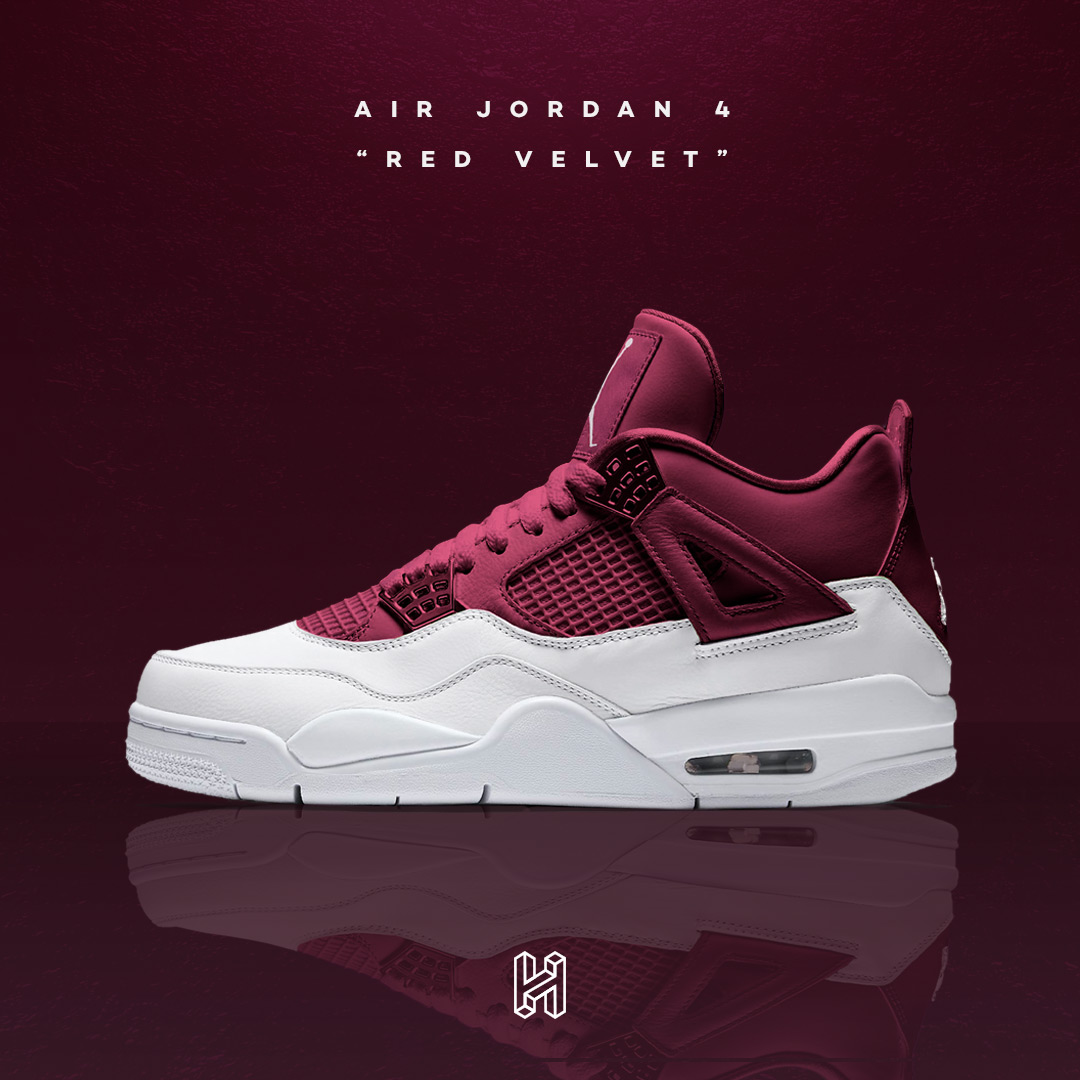 "buy popular a577e d0f02 Air Jordan 4 ""Red Velvet"""