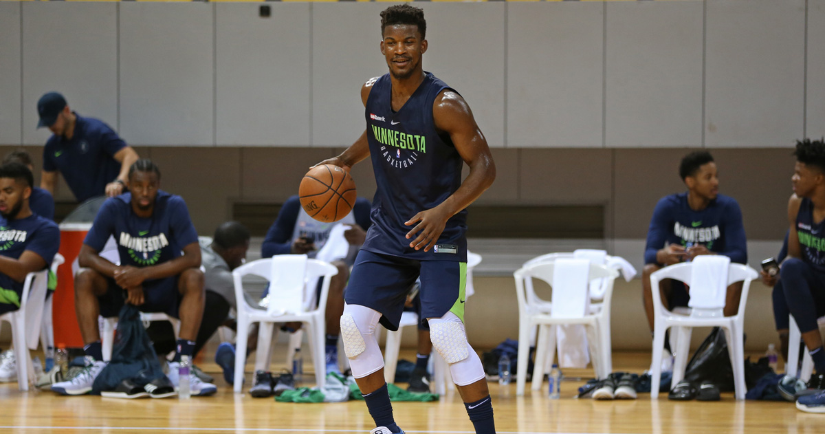 Jimmy Butler is Working Out at Timberwolves Facility While Team is on the Road