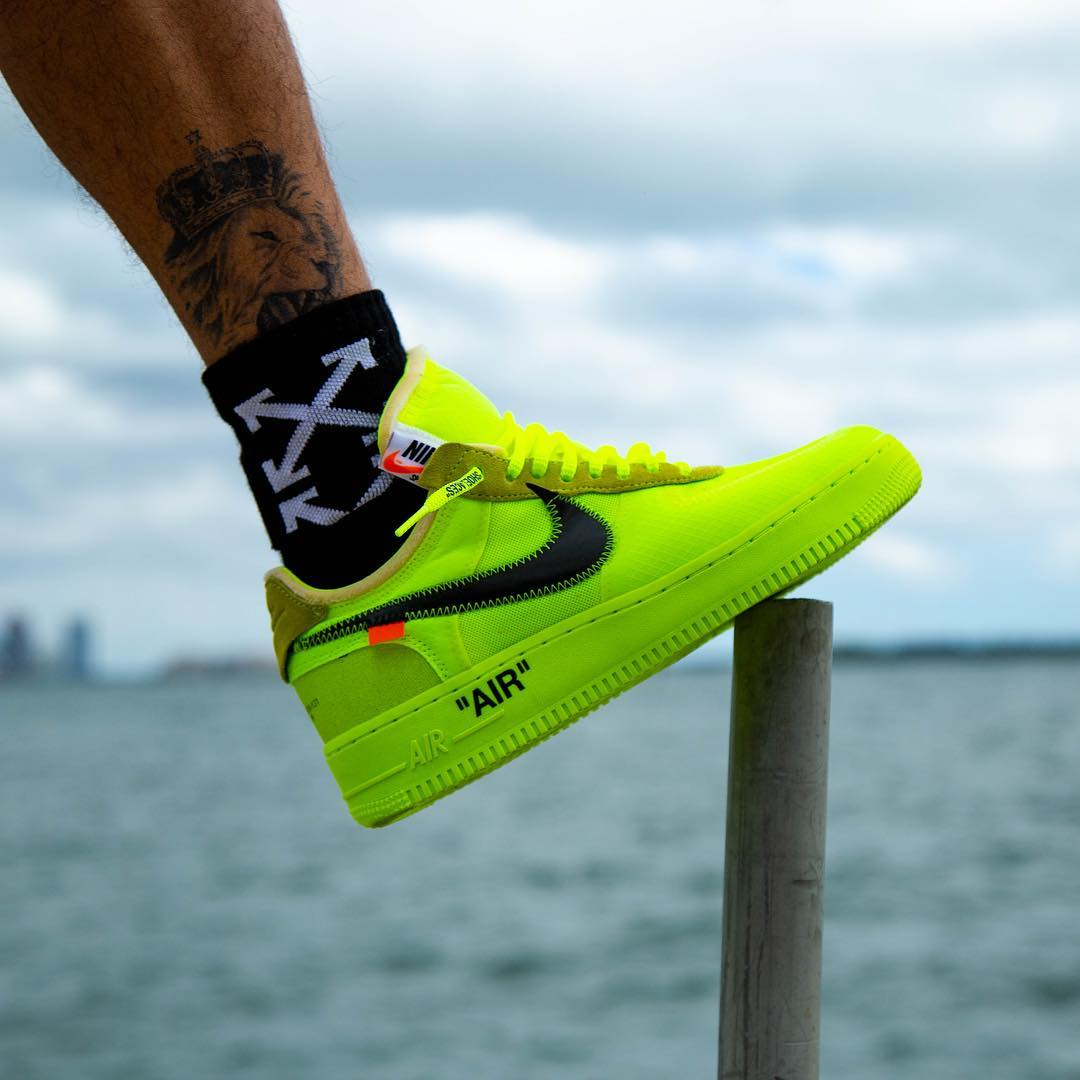 "A Release Date is Set for the OFF-WHITE x Nike Air Force 1 Low ""Volt"""