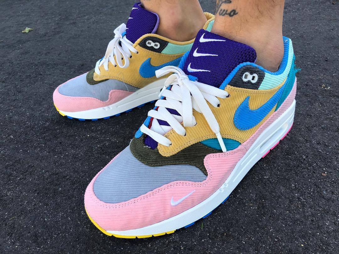 Sean Wotherspoon flexes a Bespoke Pair of Tearaway Corduroy Air Max 1s