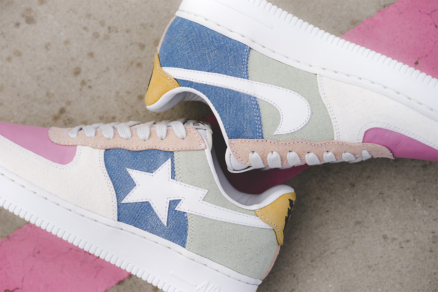Bape x Nike Air Force 1 Human Made