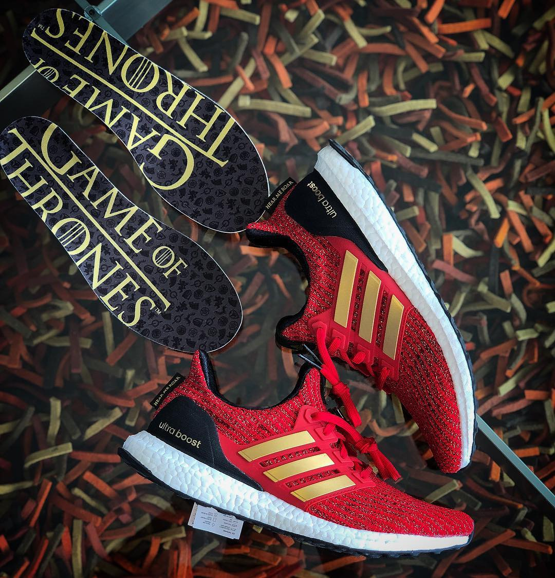 "First Looks at the adidas x Game of Thrones ""Lannister"" UltraBOOST"