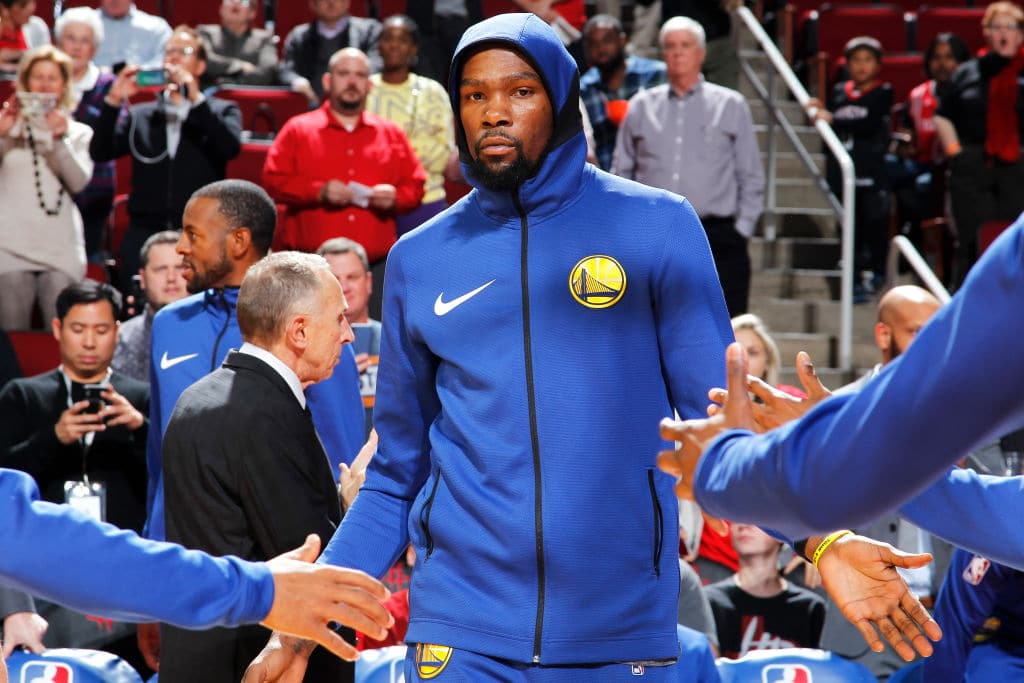 "Kevin Durant says ""Grown Men Can't Come to the Game and Heckle Grown Men"""