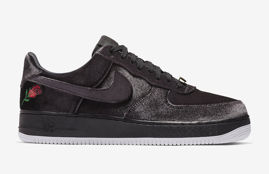 nike air force 1 low noir et rose