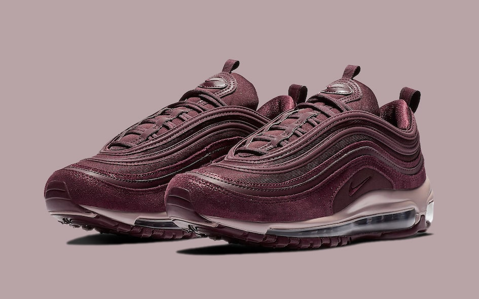 "Available Now // Air Max 97 ""Burgundy Crush"""
