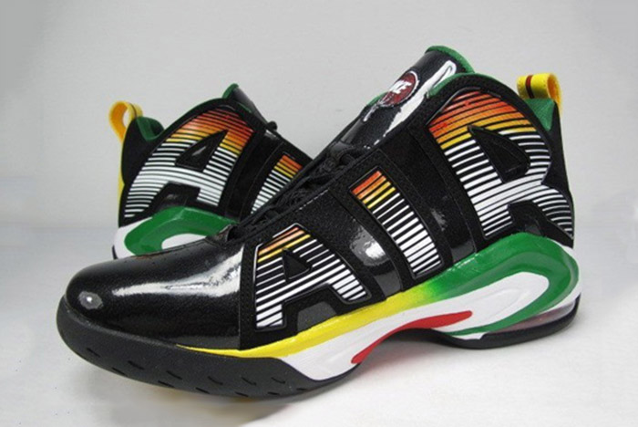 fca370973b2 Patent leather + gradient Rasta colors +weird shape = exactly what this list  is about.