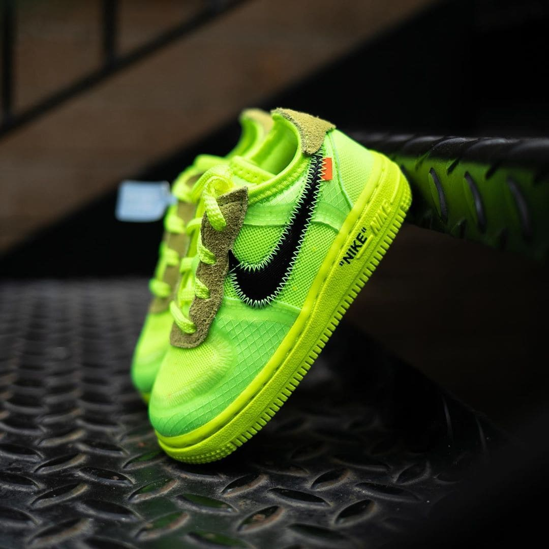 Discount Off White X Nike Air Force One Low Toddler Volt For Kid