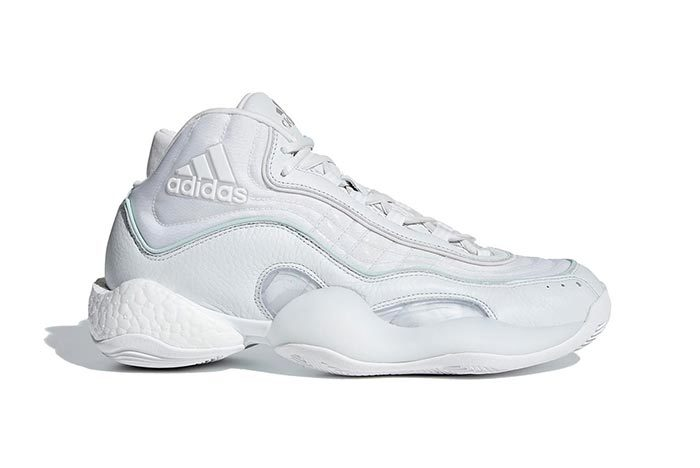 The adidas 98 X Crazy BYW Hits the Hardwood in 'Crystal White'