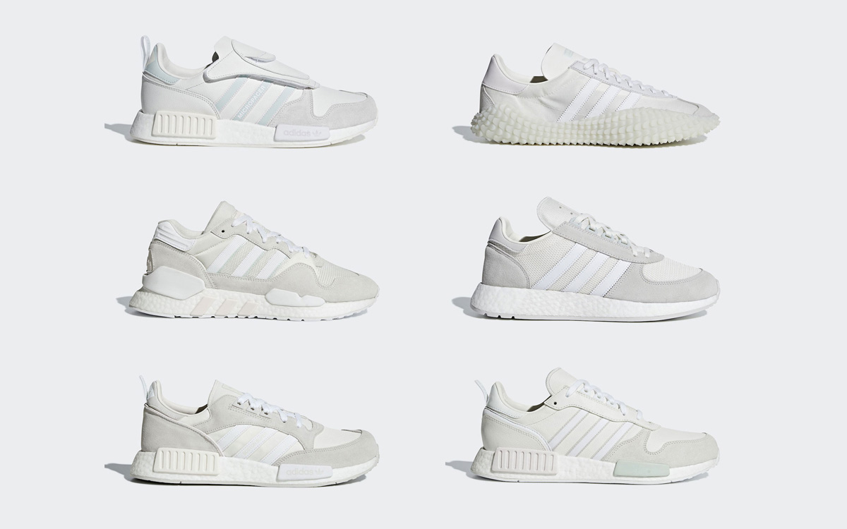 "sports shoes fd7e3 9d2a3 adidas Officially Unveil Their ""Triple White"" Never Made Collection"