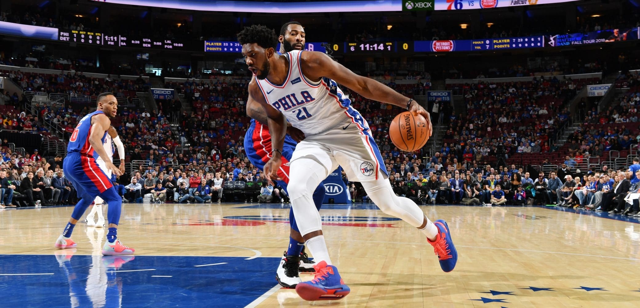 VIDEO // Joel Embiid Toasts Andre Drummond, Calls him a 'Bum' After Being Called 'Fat' and 'Out of Shape'