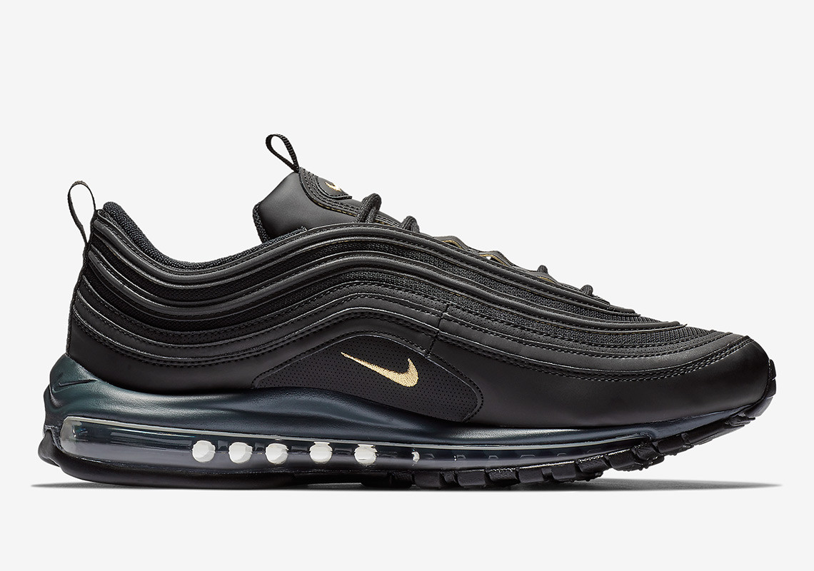 Black and Gold Leather Air Max 97s