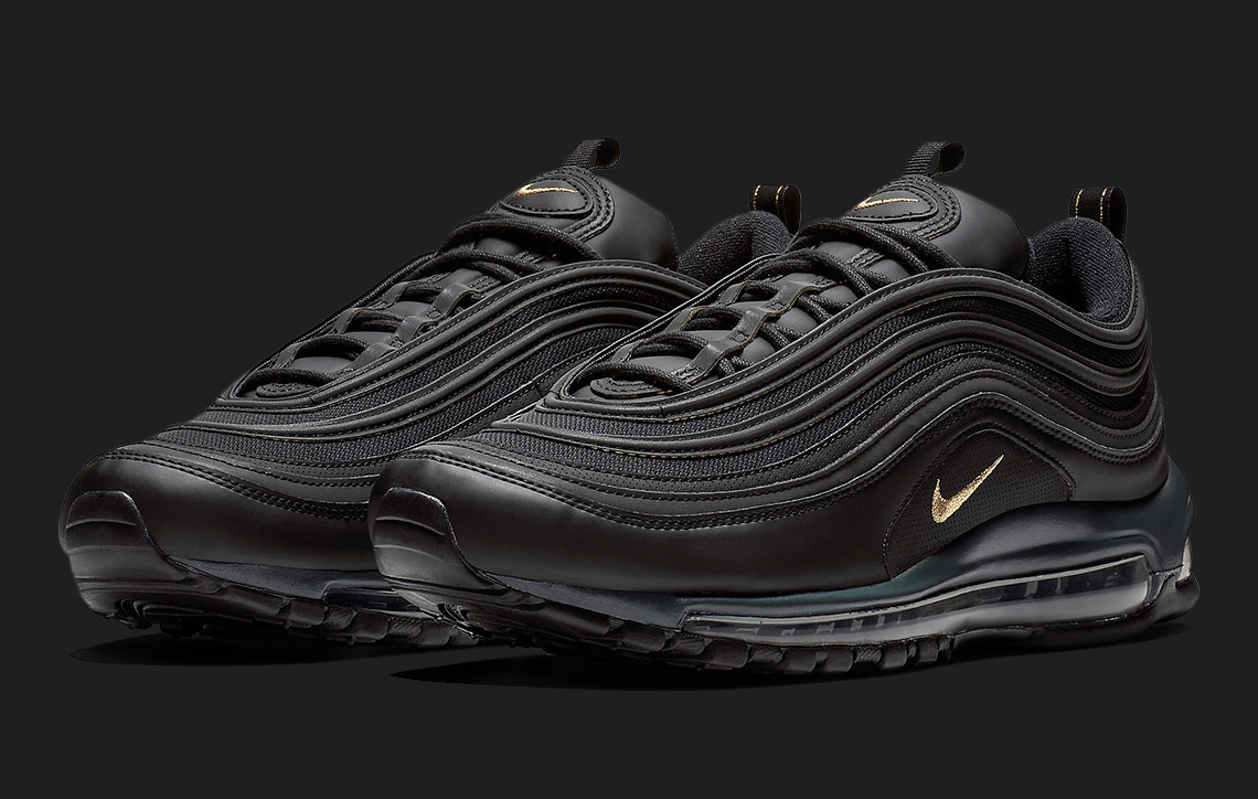 Available Now // Black and Gold Leather Air Max 97s - HOUSE ...