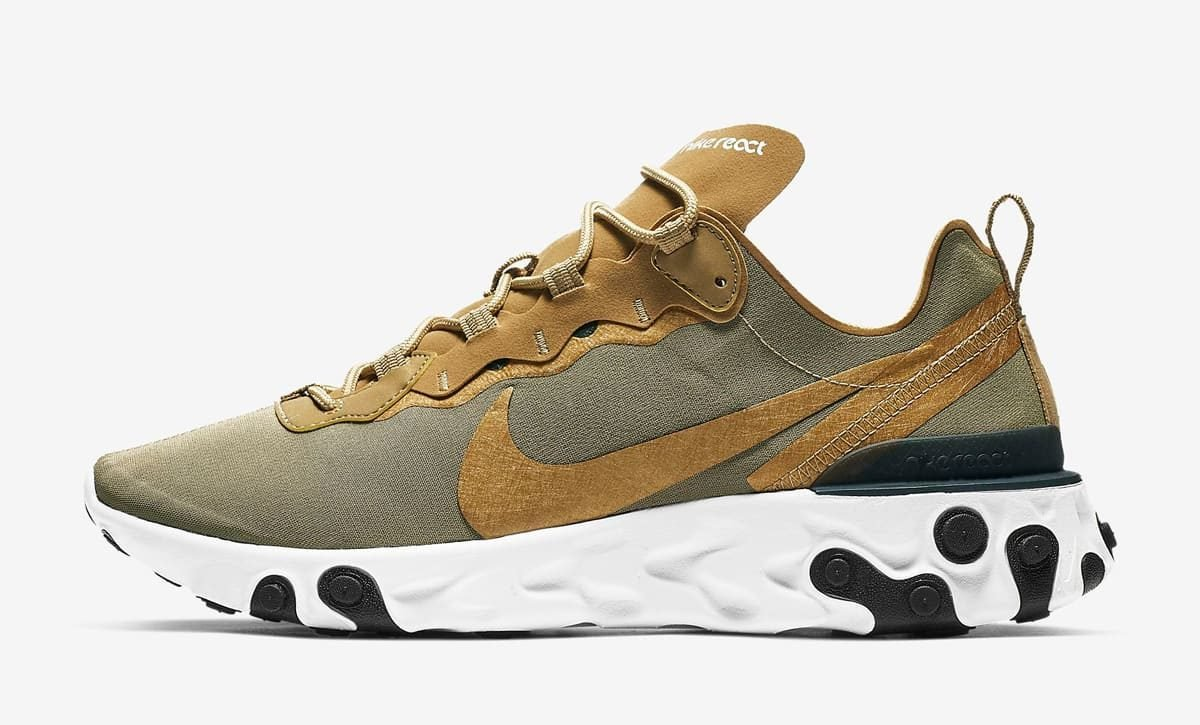 "Available Now // Nike React Element 55 ""Metallic Gold"""