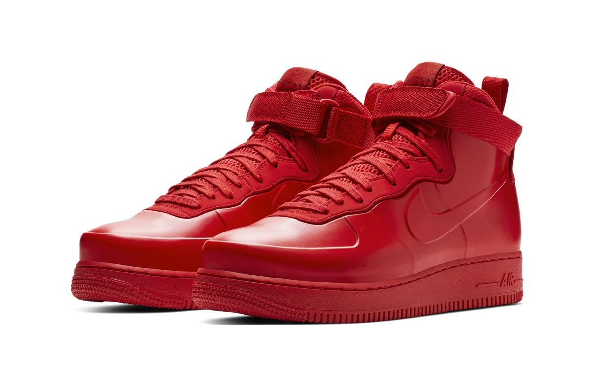 The Air Force 1 High Foamposite is Ready to Rock Triple Red