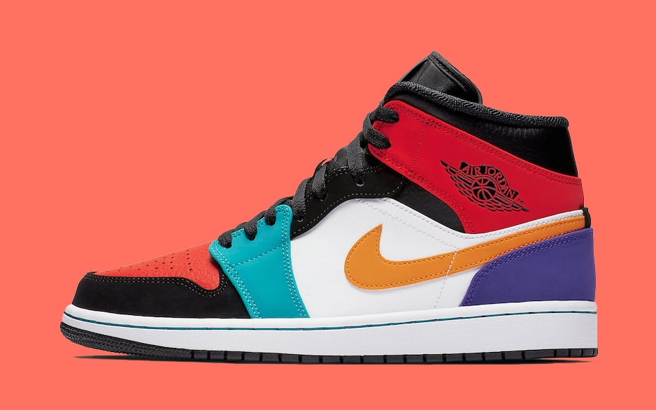 Available Now // The Jordan 1 Mid in Multi-Colors