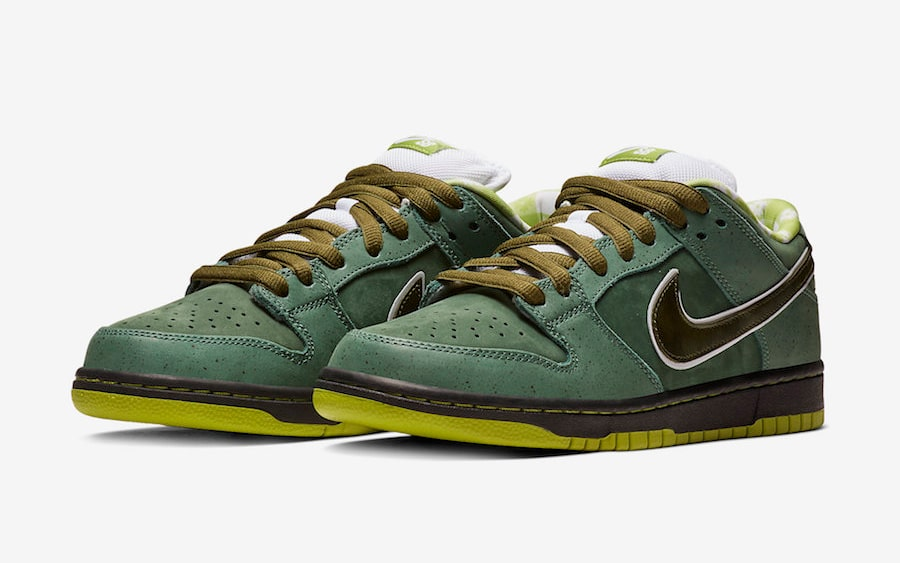 "Official Looks at the Concepts x Nike SB Dunk ""Green Lobster"""