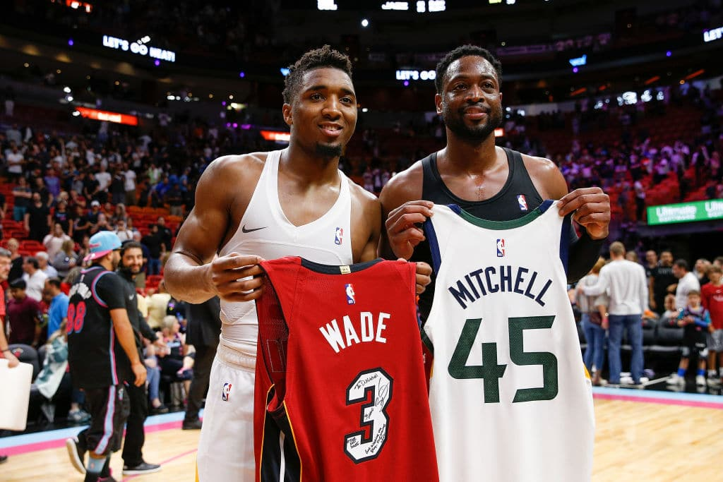 Donovan Mitchell Trolled Dwyane Wade With Hilarious Parting Gift