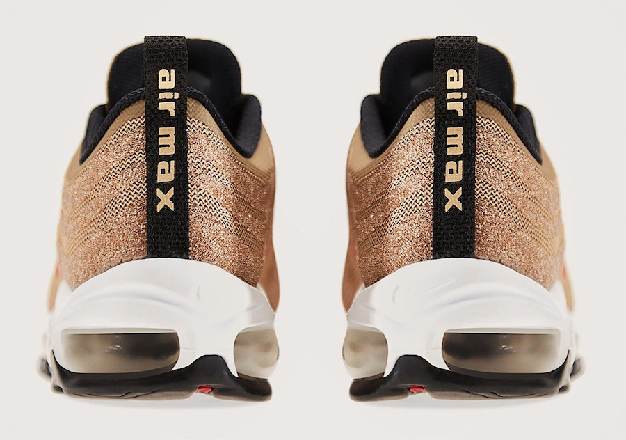 Detailed Looks at the Golden Swarovski Air Max 97 HOUSE OF